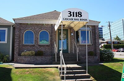 Cascade Bail Bond Office Front View — Bail Money in Everett, WA